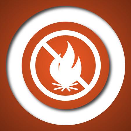 Fire forbidden icon. Internet button on white background. Stock Photo