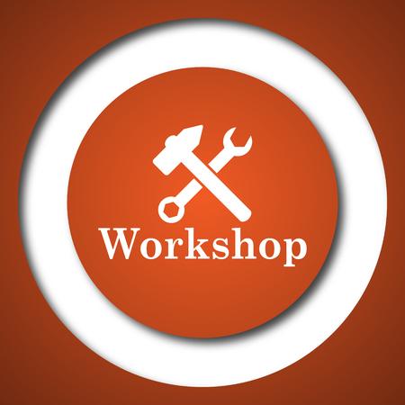 Workshop icon. Internet button on white background.