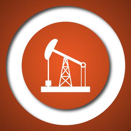 oil drum: Oil pump icon. Internet button on white background.