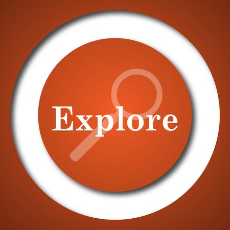 Explore icon. Internet button on white background. Stock Photo