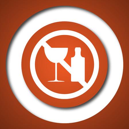 no alcohol: No alcohol icon. Internet button on white background.
