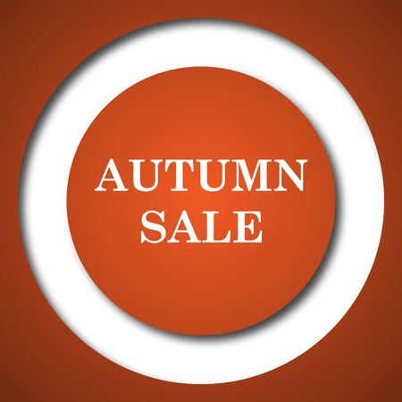 Autumn sale icon. Internet button on white background. Stock Photo