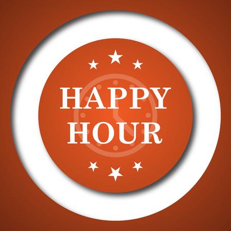 Happy hour icon. Internet button on white background.