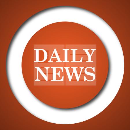 Daily news icon. Internet button on white background.