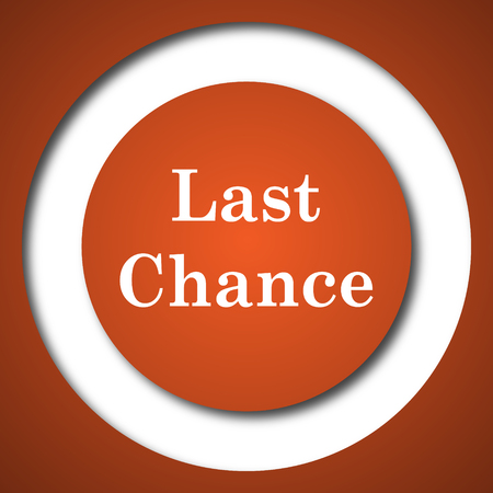 expired: Last chance icon. Internet button on white background. Stock Photo