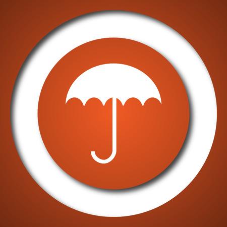 Umbrella icon. Internet button on white background.