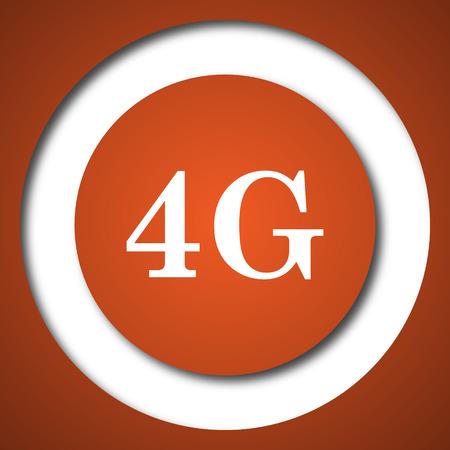4G icon. Internet button on white background.
