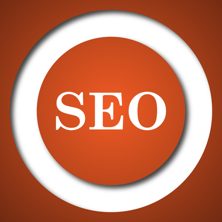 SEO icon. Internet button on white background.