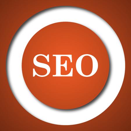 genuine: SEO icon. Internet button on white background.