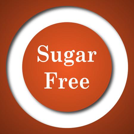 Sugar free icon. Internet button on white background.