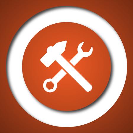 Tools  icon. Internet button on white background. Stock Photo