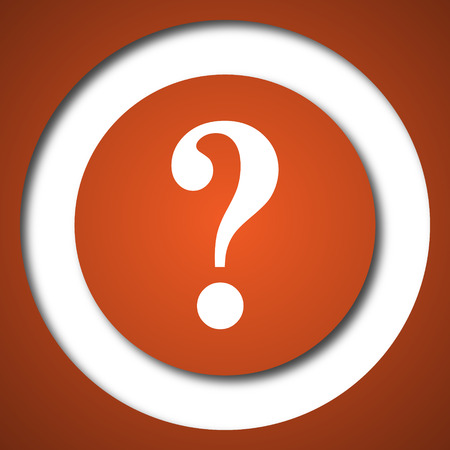 inquiry: Question mark icon. Internet button on white background.