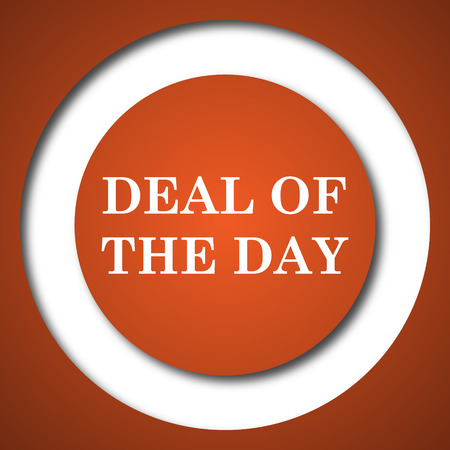 Deal of the day icon. Internet button on white background.