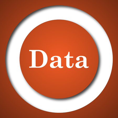 Data icon. Internet button on white background.