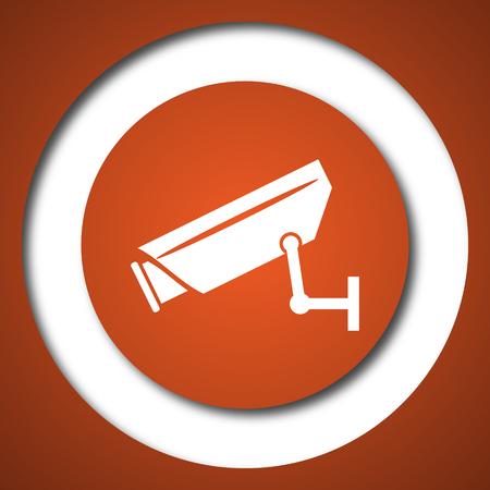 Surveillance camera icon. Internet button on white background.