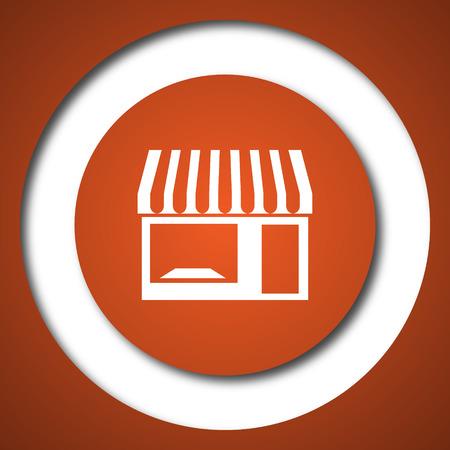 Store icon. Internet button on white background. Stock Photo