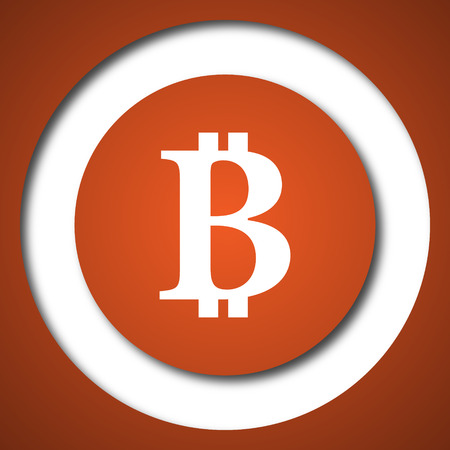 Bitcoin icon. Internet button on white background.