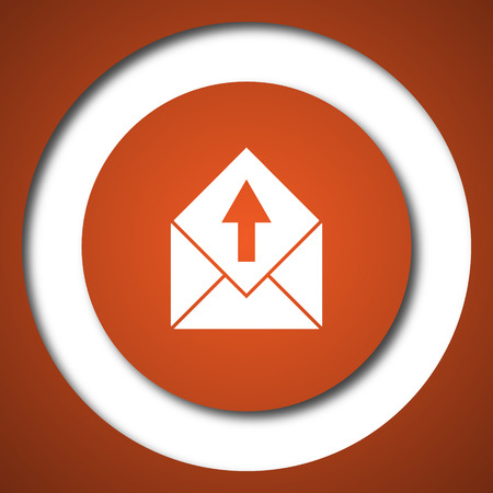 Send e-mail icon. Internet button on white background.