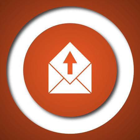 postage: Send e-mail icon. Internet button on white background.