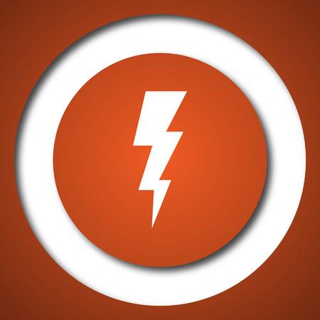 Lightning icon. Internet button on white background.