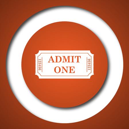 Admin one ticket icon. Internet button on white background. Stock Photo