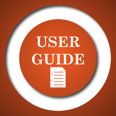 try: User guide icon. Internet button on white background.