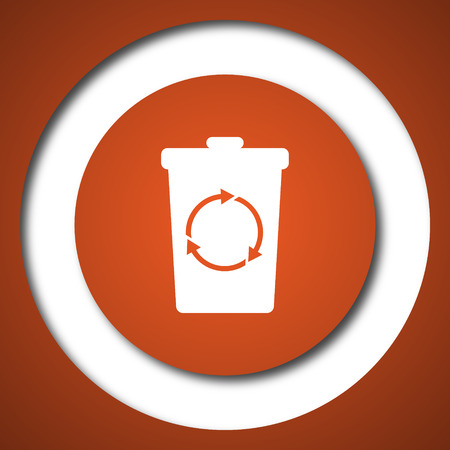 Recycle bin icon. Internet button on white background.