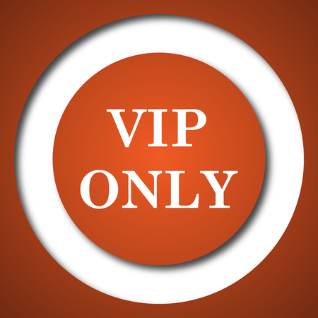 VIP only icon. Internet button on white background. Stock Photo