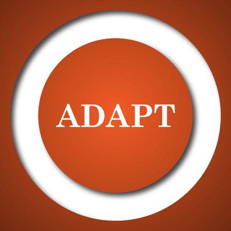 Adapt icon. Internet button on white background.