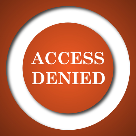 members only: Access denied icon. Internet button on white background.