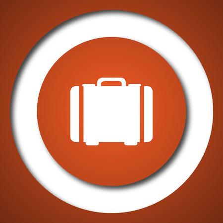 valise: Suitcase icon. Internet button on white background.