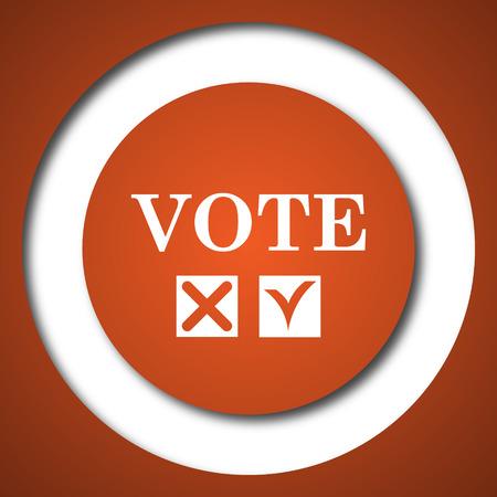 Vote icon. Internet button on white background. Stock Photo