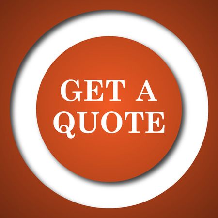 testimonials: Get a quote icon. Internet button on white background.