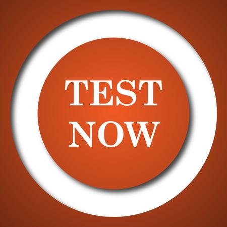 Test now icon. Internet button on white background.