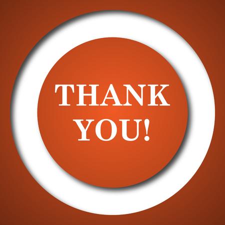 gratitude: Thank you icon. Internet button on white background.