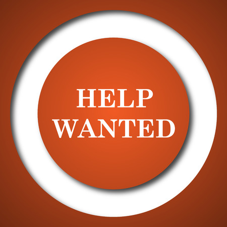now hiring: Help wanted icon. Internet button on white background.