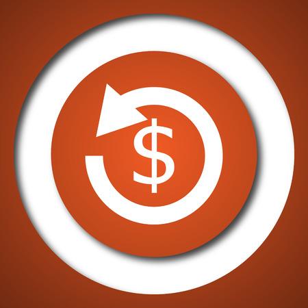 Refund icon. Internet button on white background.