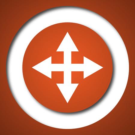 Full screen icon. Internet button on white background. Stock Photo