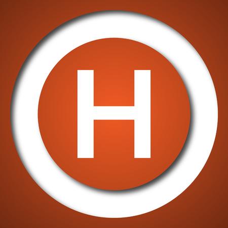 accidental: Hospital icon. Internet button on white background.