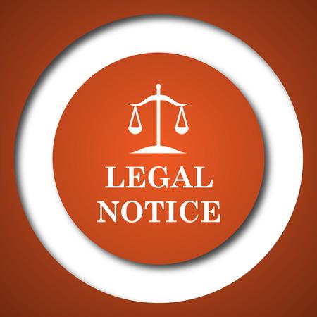 Legal notice icon. Internet button on white background. Фото со стока