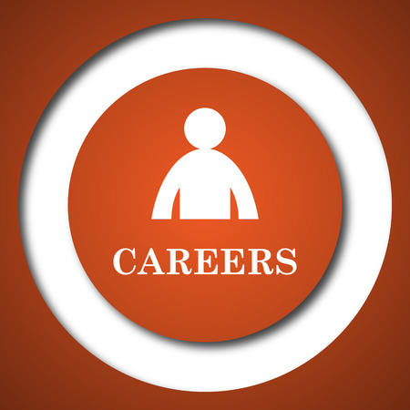 career entry: Careers icon. Internet button on white background.