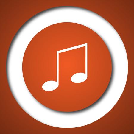 Music icon. Internet button on white background.