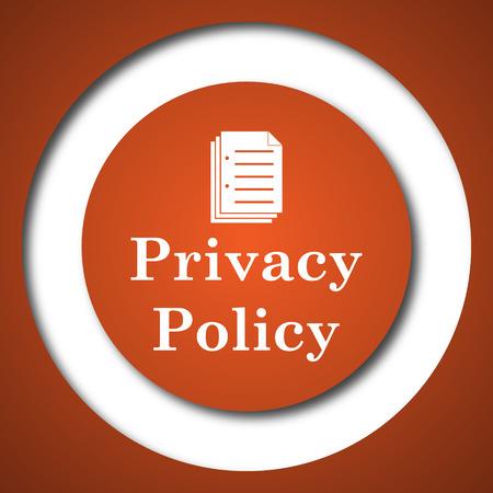Ikona polityki prywatności. Internet przycisk na bia? Ym tle.