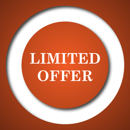 Limited offer icon. Internet button on white background.