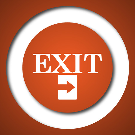 Exit icon. Internet button on white background.