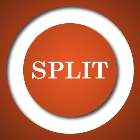 Split icon. Internet button on white background.