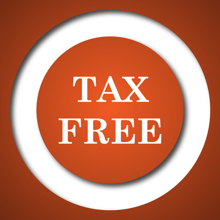 Tax free icon. Internet button on white background. Stock Photo