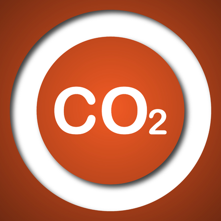 carbon emission: CO2 icon. Internet button on white background.