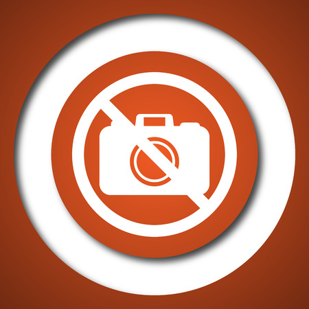 forbidden: Forbidden camera icon. Internet button on white background.