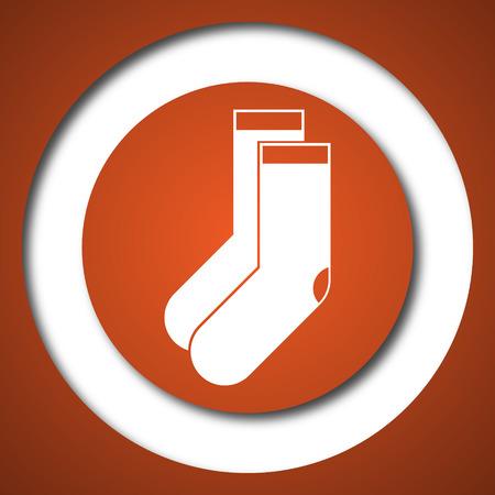 Socks icon. Internet button on white background.